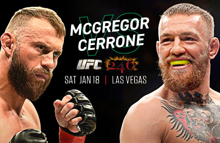 Макгрегор и Серроне встретились взглядами перед главным боем UFC 246