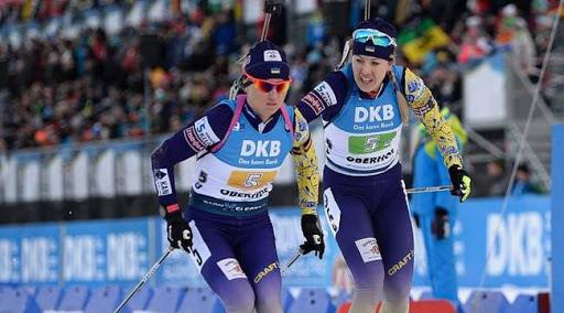 Украинские биатлонистки опустились на седьмое место в Кубке наций